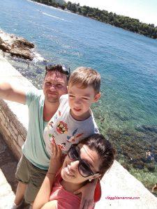 Croazia con i bambini - noi a Rovigno