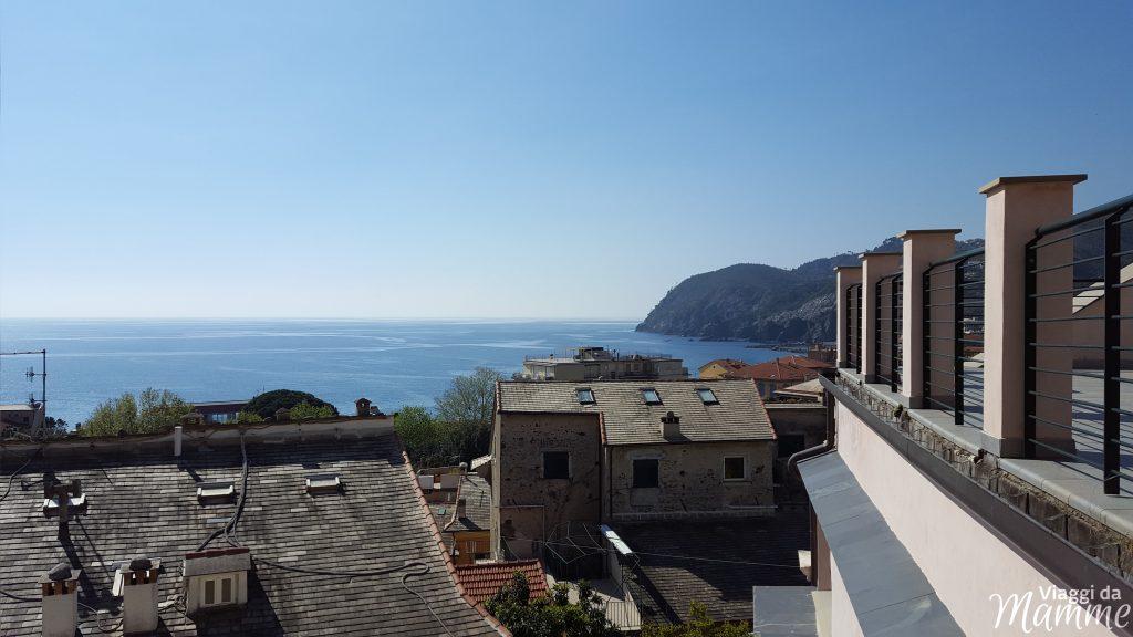Dove dormire a Levanto con bambini Casa Vacanze San Giacomo -vista dalla zona living-