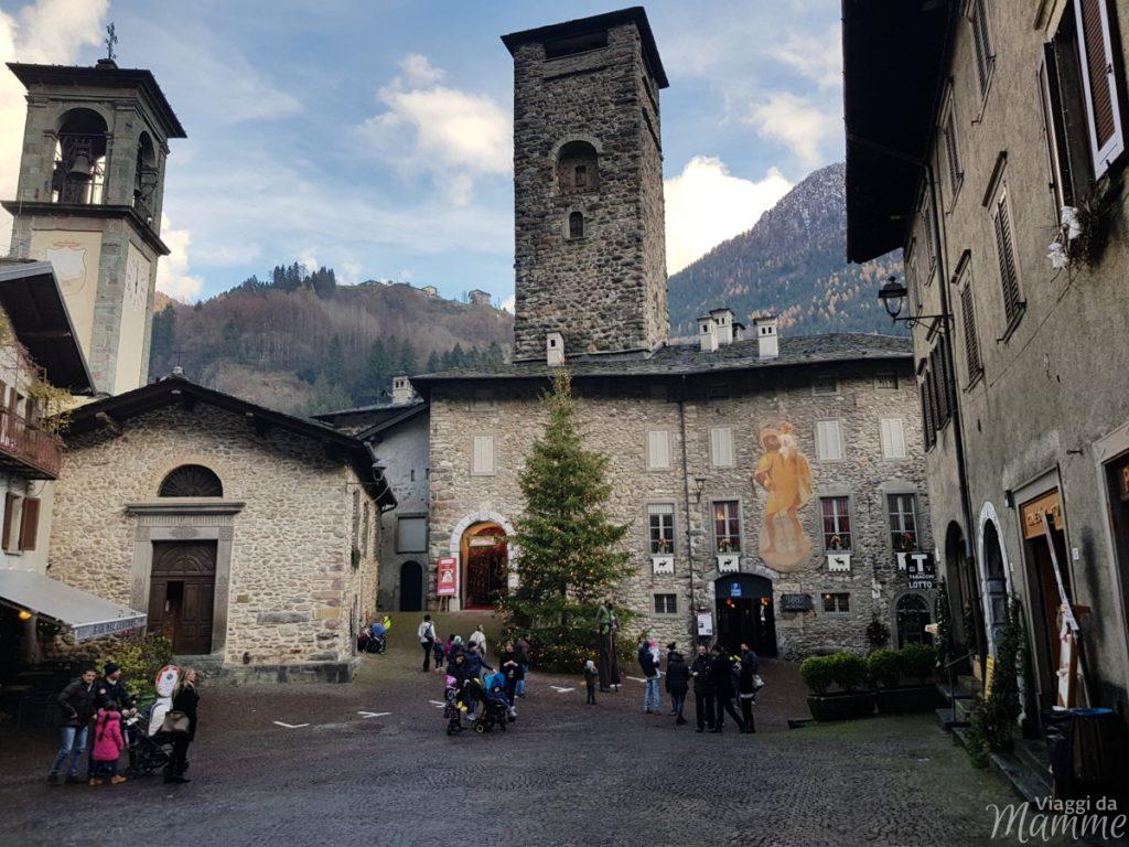 Gromo è la Casa Bergamasca di Babbo Natale 2018 -Piazza Dante, Castello Ginami-