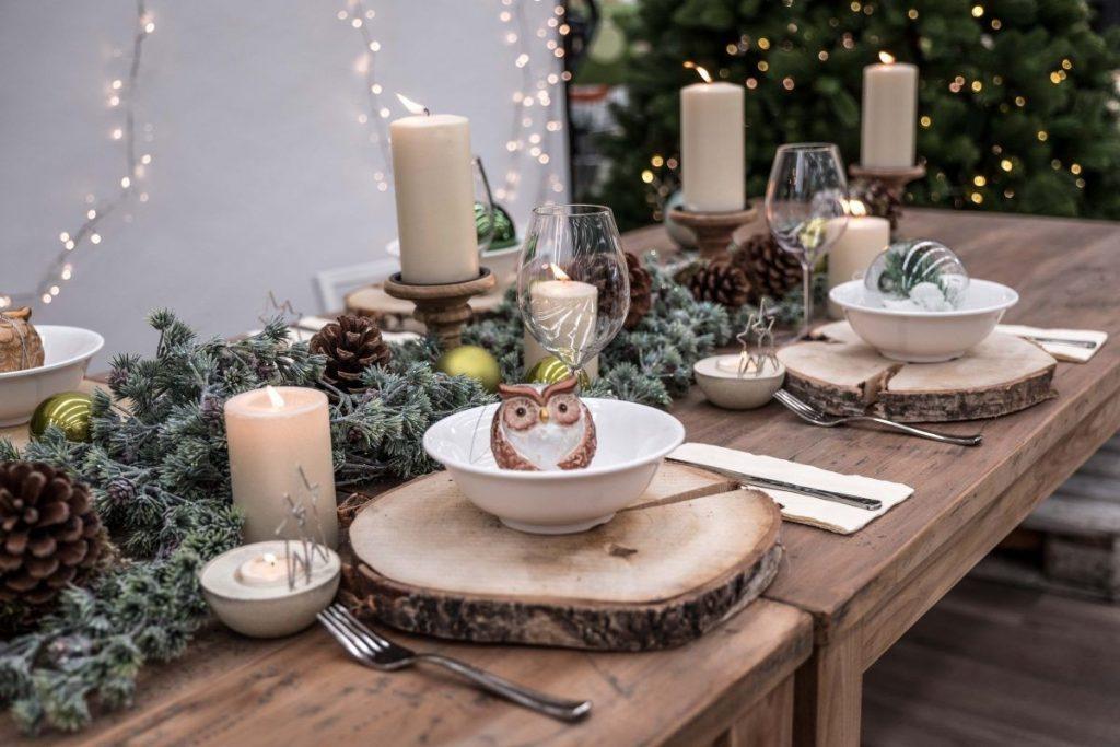 addobbo tavola Natale