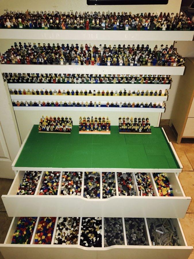 cassettiera porta Lego e mensole