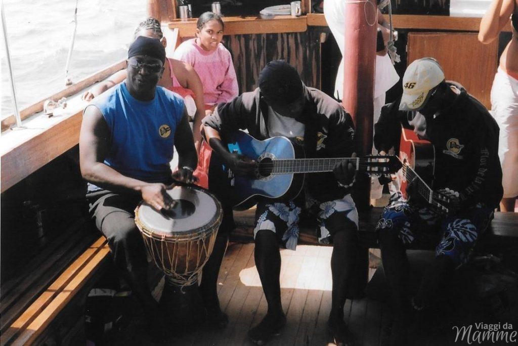 Su un'imbarcazione a Mauritius