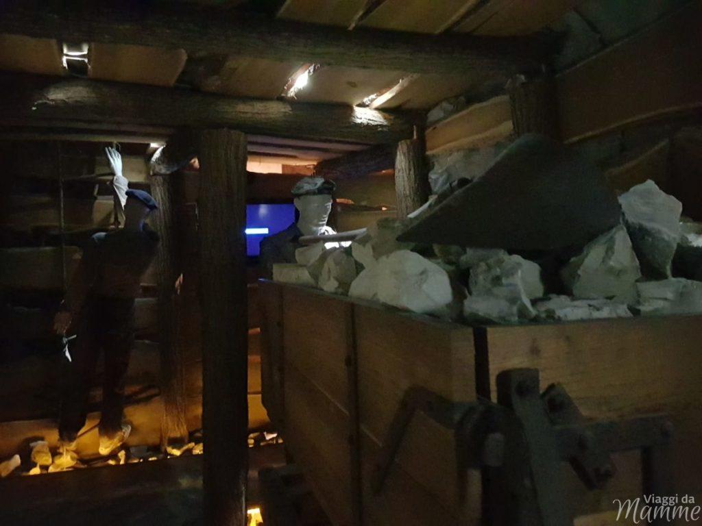 Riproduzione nel museo di una miniera