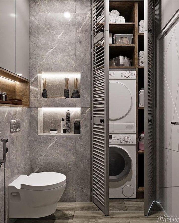 Arredare bagno piccolo con lavatrice