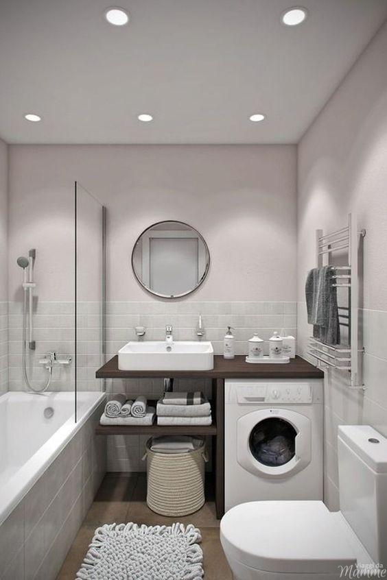 Come arredare un bagno piccolo con lavatrice