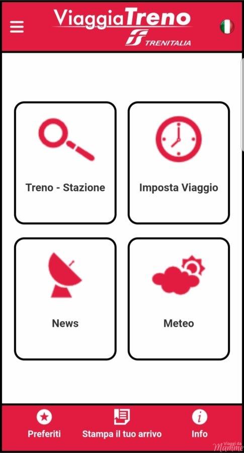 ViaggiaTreno mobile stazione