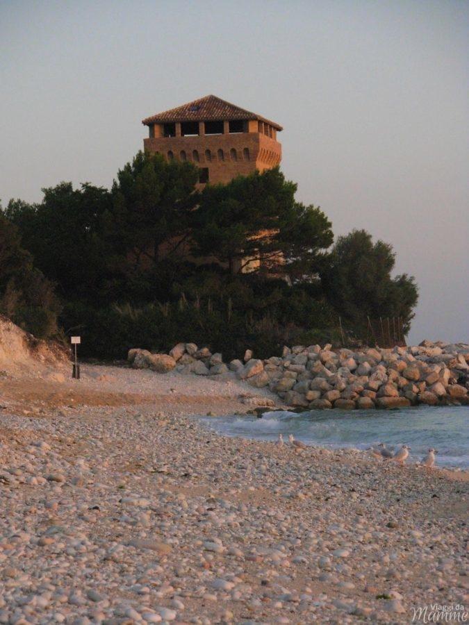 Portonovo spiaggia della torre