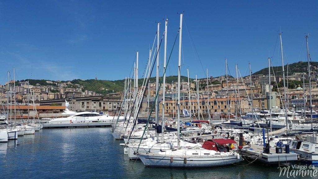 Visitare l'Acquario di Genova con i bambini -vista dall'area pic nic-