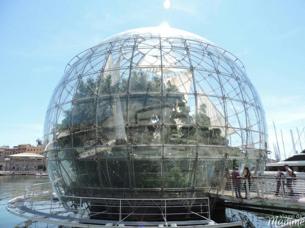 Visitare l'Acquario di Genova con i bambini -biosfera-