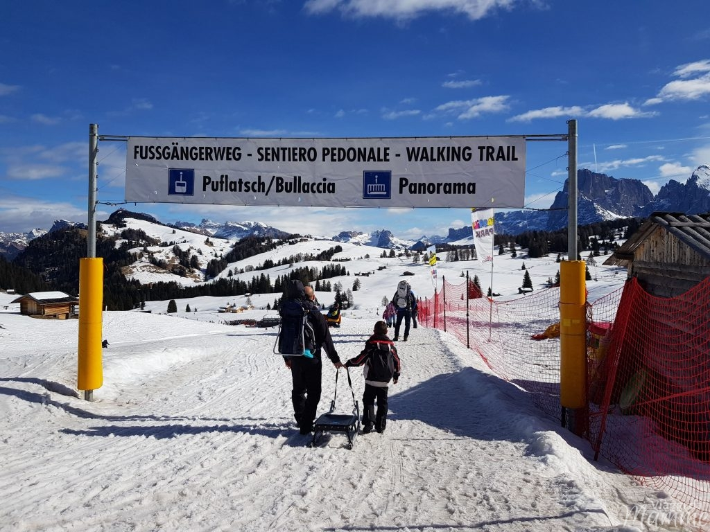 Alpe di Siusi passeggiate invernali